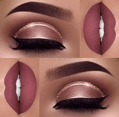 Pink And Golden Makeup Inspiration You Will Love