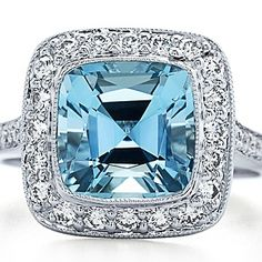 Tiffany & Co. - Tiffany Legacy® aquamarine ring in platinum with diamonds. from Tiffany & Co. Saved to Epic Wishlist. Tiffany Co Rings, Tiffany & Co., Tiffany Jewellery, Tiffany Outlet, Jewellery Shops, Bling Bling, My Birthstone, Thing 1, Aquamarine Rings