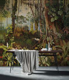Disponible en Marsala. Amazzonia | Carta da parati vinilica e fibra di vetro | Inkiostro Bianco.