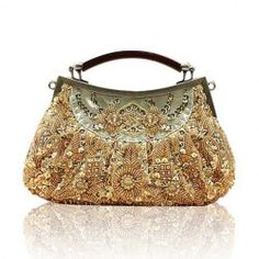 Party Elegant Women's Evening Bag With Beaded and Sequins Design