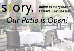 Reserve your patio table for dinner this evening at 913.235.9955. Cheers!