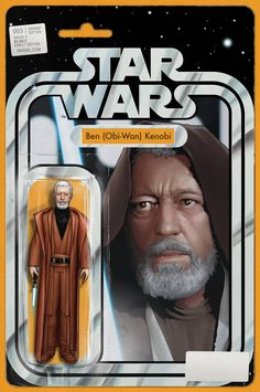 Star Wars Comic Book Variant with Obi-Wan Kenobi Action Figure Art on Cover by John Tyler Christopher (Not an Actual Toy) Star Wars Comic Books, Star Wars Comics, Star Wars Toys, Marvel Comic Books, Star Wars Art, Marvel Comics, Marvel Dc, Tyler Christopher, John Tyler