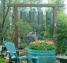 Freon Tank Bells.  Cool big wind chimes!