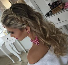 Graduation Hairstyles: 12 Inspirations to Destroy on Such an Important Date! Graduation Hairstyles, Homecoming Hairstyles, Wedding Hairstyles, Loose Hairstyles, Braided Hairstyles, Natural Hair Styles, Short Hair Styles, Braids For Short Hair, How To Make Hair