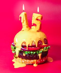 Happy Cheesy Burger For Gourmet Burger Kitchen