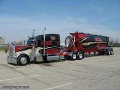 Custom Peterbilt Conventional with a Matching Tanker Trailer Custom Peterbilt, Peterbilt 379, Peterbilt Trucks, Show Trucks, Big Rig Trucks, Pickup Trucks, Custom Big Rigs, Custom Trucks, Flatbed Trailer