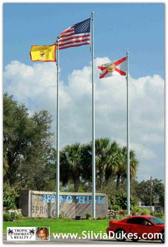Flags at Spring Hill Drive Spring Hill Florida