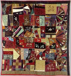 Embroidered Crazy Quilt by Susan McCord from the collection of Henry Ford Museum