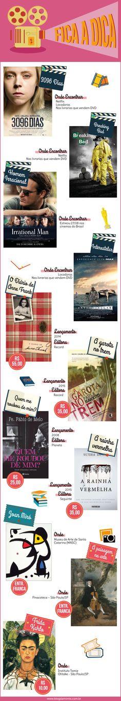 Fica a Dica: setembro - Blog da Mimis - Exposições, livros e séries viciantes do momento