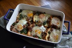 baked eggs with kale and sausage from Cook Like Kayla