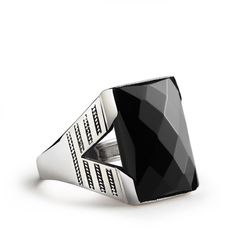 925 Silver Men's Ring Black Onyx Gemstone Sterling Silver Ring All sizes 2914 | Jewelry & Watches, Men's Jewelry, Rings | eBay!