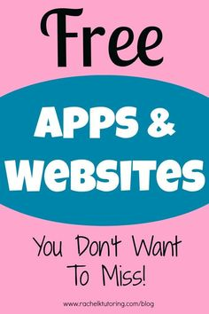 Free Apps  Websites - lists lots of apps and websites for math, ELA and science