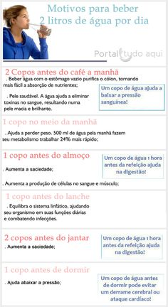 Bons motivos para beber muita água! Healthy Life, Health Tips, Fitness, English, Diet To Lose Weight, Healthy Skin, Women Health, Health And Nutrition, Healthy Tips