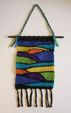 Items similar to Handwoven wall hanging on Etsy Crochet Top, Hand Weaving, Wool, Unique, Cotton, Etsy, Ideas, Design, Tapestries