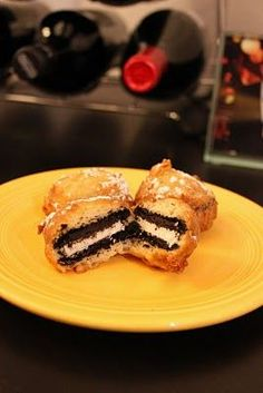 Deep Fried Oreos {Fair foods in your kitchen, dangerous. Must use double stuff oreos!}