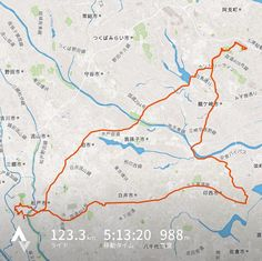 今日の自転車走行距離123.3km R464利根水郷ライン牛久大仏コース100km過ぎから足がなくなりヘトヘト #ロードバイク #自転車 #牛久大仏
