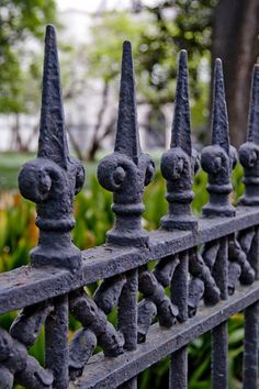 New Orleans Iron work. Just so you know- in New Orleans its pronounced arn New Orleans Art, Visit New Orleans, New Orleans Louisiana, New Orleans Architecture, Gothic Garden, Jackson Square, Southern Gothic, Backyard Sheds, Crescent City