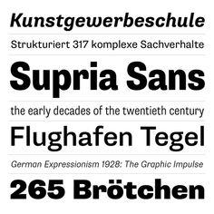 Supria Sans by Hannes von Dohren