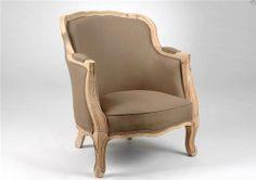 Fauteuil elaine metis - taupe - collection Charme par Amadeus http://www.plumedinterieur.com/fauteuil-elaine-metis-taupe-c2x12947366