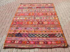 Antique Turkish Kilim Rug Natural Wool   61  x 93  by TurkishKilim, $499.00