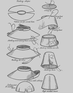 Vintage Childrens Millinery Hat Bonnet Cap Making Pattern Book on CD | eBay