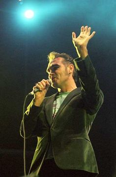 Morrissey on stage at Coachella Festival, Indio, CA, USA on November 9, 1999.
