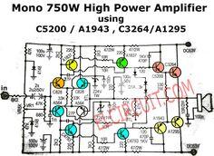 750W Mono Power Amplifier Schematic diagram