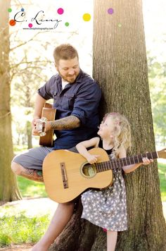 C. Linz Photography: You Can Always Go {DOWNTOWN} / St. Louis Family Photographer - Father Daughter Playing Guitar