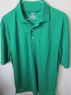 f4f2a4ef Men's Green Size M Shirt Cintas Short Sleeves 3 Button Front 100% Polyester  #Cintas #PoloRugby