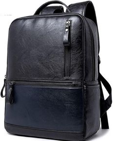 4FSGLOBAL Men Backpack School Bag Black Fashion Rucksacks Travel Backpack  Bag 6b2b6b95e3c9c