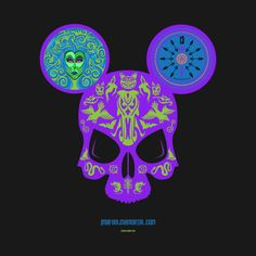 Haunted Mansion Mickey Skull by Topher Adam