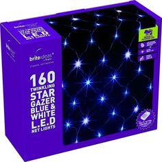 outdoor christmas star light   Image of 160 LED Star Gazer Multi Action Net Light (Blue & White)