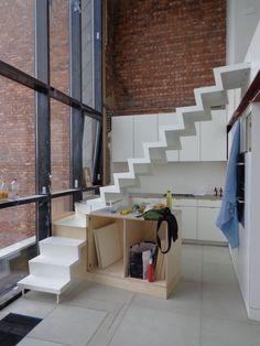 stalen trap in opbouw