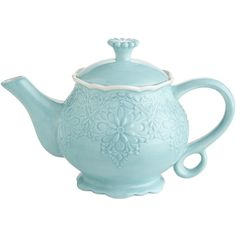 Pier 1 Imports Lacy Teapot (€14) ❤ liked on Polyvore featuring home, kitchen & dining, teapots, tea, accessories, backgrounds, floral teapot, tea pot, tea-pot and pier 1 imports