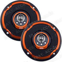 Edge Audio ED204 10.2cm pulgadas 100mm 4-Way 120w Puerta Del Coche Coaxial Naranja altavoces