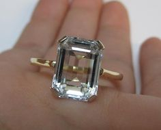 MAKE AN OFFER 14k Gold 4.00 Carat Emerald Cut by ParryJewelers