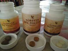 Forever Bee Products.Bee Propolis- A natural antibiotic. Enhance immune system. Reduces infection. Promotes wound healing .Bee Pollen - Energy Booster. Good for prostate health. Aids in weight managements. Helps alleviate stress. Natural's most complete food. Royal Jelly - Contains 250mg royal jelly per tablet. Balances hormons system. Balance nervous system. Helps maintain youthfulness Bee Propolis, Forever Business, Forever Aloe, Energy Boosters, Natural Antibiotics, Bee Pollen, Forever Living Products, Health Matters, Nutrition Tips