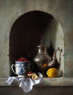 Still Life Photography Лимон и зернышки граната © Диана Амелина