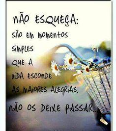 Não esqueça!!