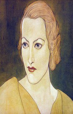 1933 JOAN CRAWFORD, by Austin Osman Spare (English artist/occultist 1886~1956)