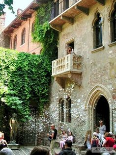 Verona, Italy Juliet's balcony:  The house in Verona known as Juliet's house was owned by the family dell Capello, a name not too far from Capulet, right? The house dates from the 13th century and the family coat of arms can still be seen on the wall. A slight problem is the balcony itself, which overlooks the courtyard – it was added in the 20th century.