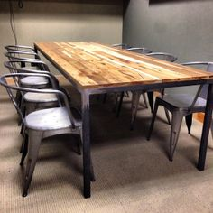 Parsons table with solid wood top by RockyMountainTableCo on Etsy, $1000.00