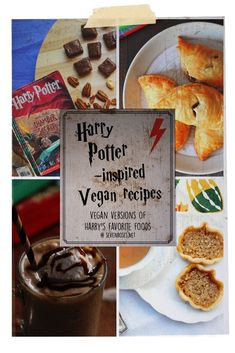 Vegan Harry Potter recipes to celebrate 2018 and beyond, including 2 of mine! #harrypotter #hogwarts #newyear #vegan #veganrecipes