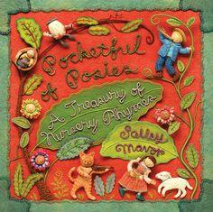 "Inspirational artwork - love this artist's needle work! Love children's books. ""Pocketful of Posies: A Treasury of Nursery Rhymes."""