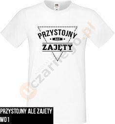 Koszulka na dzień chłopaka: Przystojny ale zajęty w uczarnego na DaWanda.com