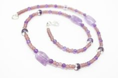 Amethyst and Seed Bead Necklace, Purple Layering Necklace, Delicate Beaded Necklace with Lavender Amethyst, Healing Gemstone https://www.etsy.com/listing/513812215/amethyst-and-seed-bead-necklace-purple?utm_campaign=crowdfire&utm_content=crowdfire&utm_medium=social&utm_source=pinterest