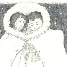 「全世界最溫暖的斗篷」    #每日一繪 #illustration #drawing #warm