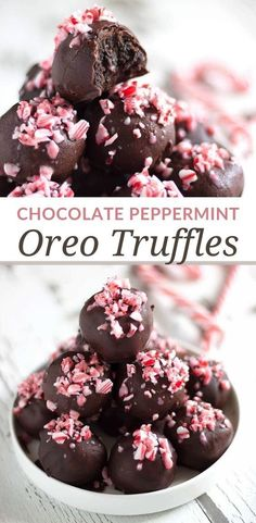 Peppermint Truffle Recipe, Peppermint Cheesecake, Chocolate Peppermint Cookies, Chocolate Candy Melts, Dark Chocolate Cookies, Oreo Cookie Truffles, Blackberry Cheesecake, New Year's Desserts, Holiday Desserts