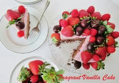 Chocolate raspberry raw cake