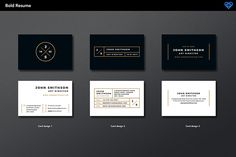 3 x free business cards supplied with Resume Template by www.ikono.me